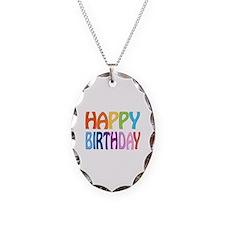 happy birthday - happy Necklace
