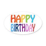 Birthday Oval Car Magnets