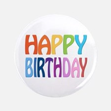 "happy birthday - happy 3.5"" Button (100 pack)"
