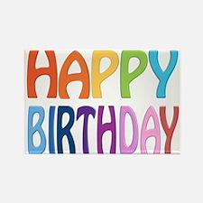 happy birthday - happy Rectangle Magnet (10 pack)