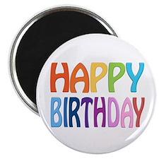 """happy birthday - happy 2.25"""" Magnet (100 pack)"""