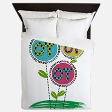 OT FLOWERS FINISHED 1.PNG Queen Duvet