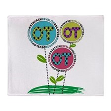 OT FLOWERS FINISHED 1.PNG Throw Blanket