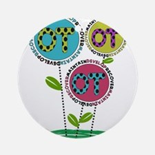 OT FLOWERS FINISHED 1.PNG Ornament (Round)