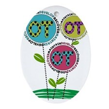 OT FLOWERS FINISHED 1.PNG Ornament (Oval)