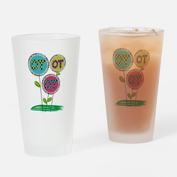 OT FLOWERS FINISHED 1.PNG Drinking Glass