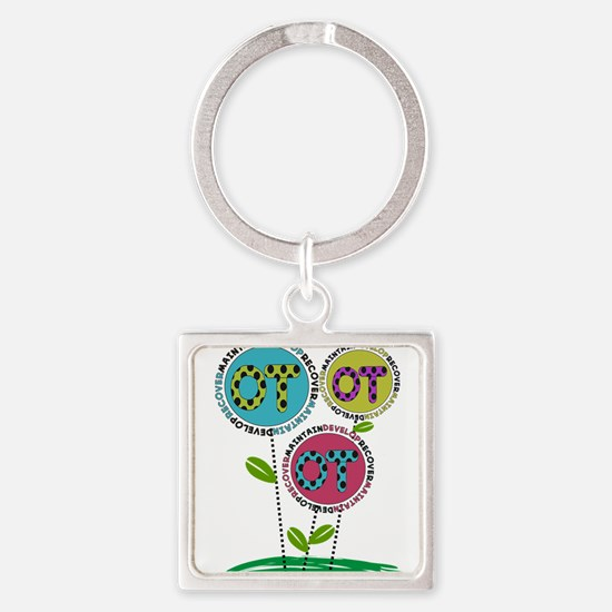 OT FLOWERS FINISHED 1.PNG Square Keychain