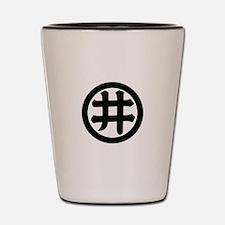 I-moji in circle Shot Glass
