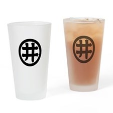 I-moji in circle Drinking Glass