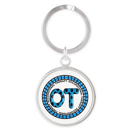 OT PENDANT BLUE COMPLETE.PNG Round Keychain