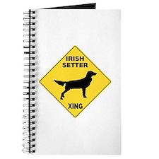 Irish Setter Crossing Sign Journal