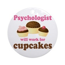 Psychologist Cupcakes Ornament (Round)