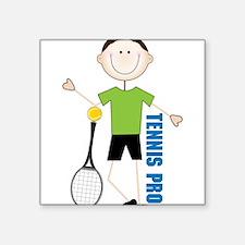 "Tennis Pro Square Sticker 3"" x 3"""