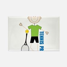 Tennis Pro Rectangle Magnet