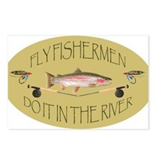 Fly Fishermen Do It In The River Postcards (Packag
