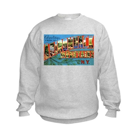Adirondack Mountains New York (Front) Kids Sweatsh