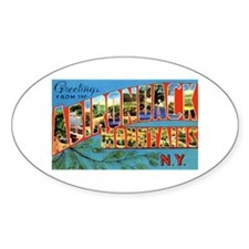 Adirondack Mountains New York Oval Decal
