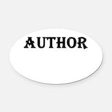Author Oval Car Magnet