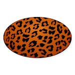 Animal Print Sticker (Oval)