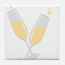 Champagne Tile Coaster