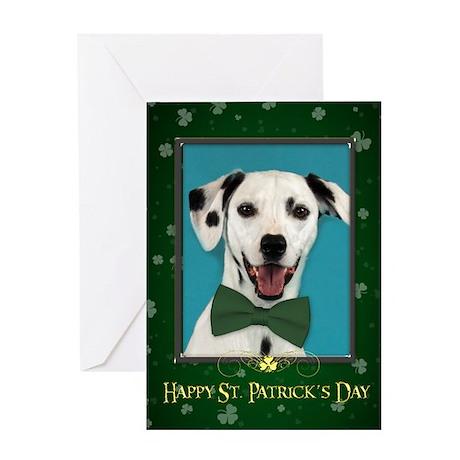 Dalmatian St. Patricks Day Card