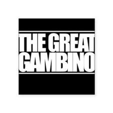 "'The Great Gambino' B/W Square Sticker 3"" x 3"""