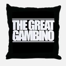 'The Great Gambino' B/W Throw Pillow