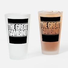'The Great Gambino' B/W Drinking Glass