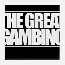 'The Great Gambino' B/W Tile Coaster