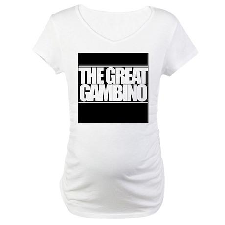'The Great Gambino' B/W Maternity T-Shirt
