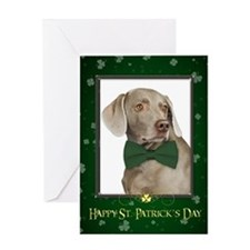 Weimaraner St. Patricks Day Card