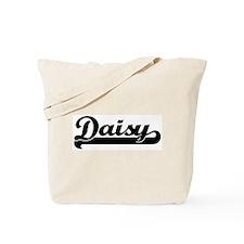 Black jersey: Daisy Tote Bag