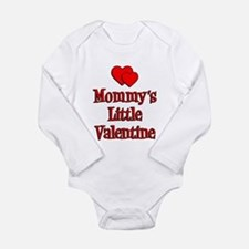 Mommys Little Valentine Long Sleeve Infant Bodysui