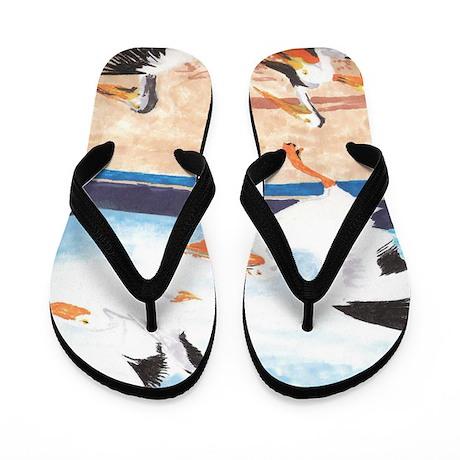 Pelicans- God's Creatures Flip Flops