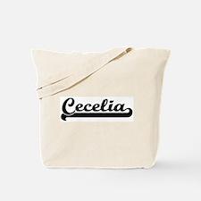 Black jersey: Cecelia Tote Bag