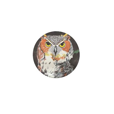 Owl- God's Creatures Mini Button