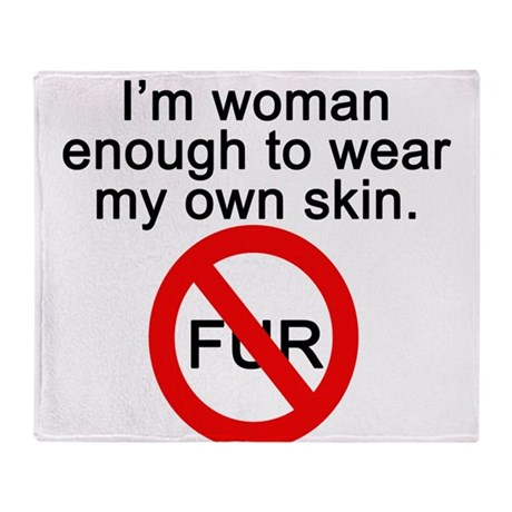 No to Fur Throw Blanket