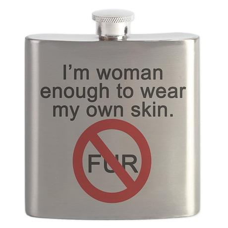 No to Fur Flask