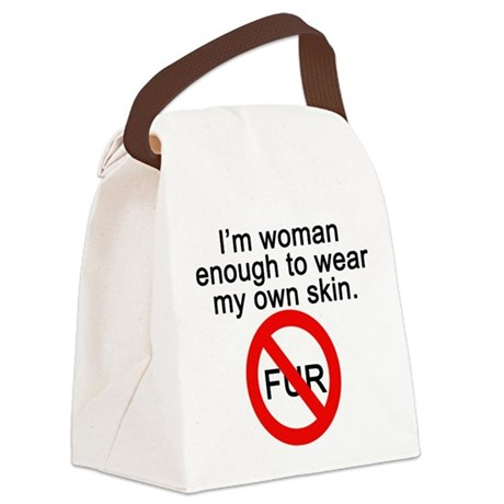 No to Fur Canvas Lunch Bag