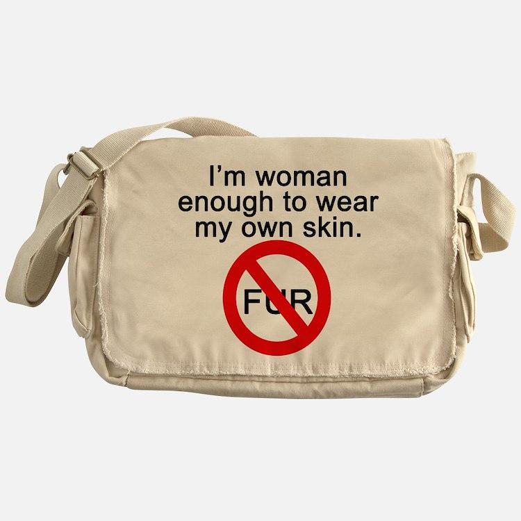 No to Fur Messenger Bag