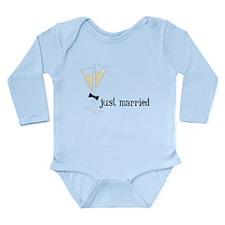 Just Married Long Sleeve Infant Bodysuit