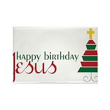 Happy Birthday Jesus Rectangle Magnet