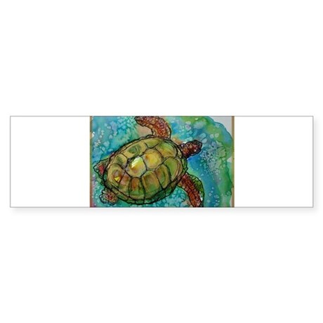 Sea turtle! Wildlife art! Sticker (Bumper)