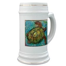 Sea turtle! Wildlife art! Stein