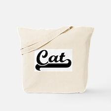 Black jersey: Cat Tote Bag