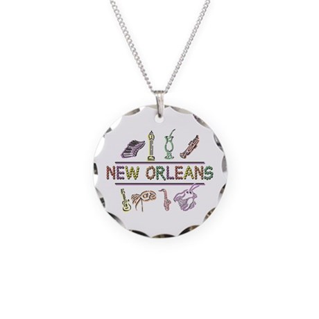 New OrleansThe Big Easy Necklace Circle Charm