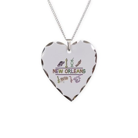 New OrleansThe Big Easy Necklace Heart Charm