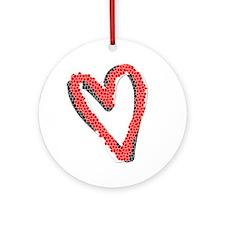 Valentine Heart Ornament (Round)