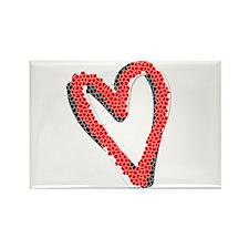 Valentine Heart Rectangle Magnet