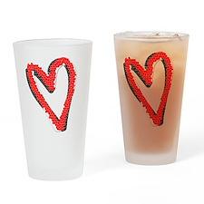 Valentine Heart Drinking Glass